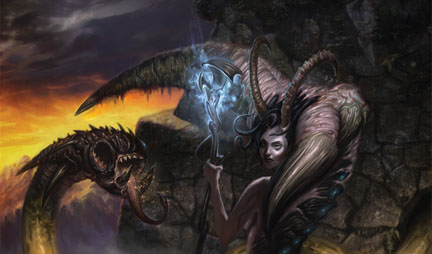 Play Mat 20 Servant Of The Demoness W Art By Jim Pavelec